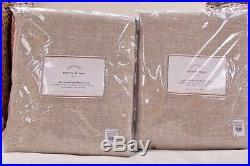 Pottery Barn Emery Linen Cotton Blackout Drapes Set Of 2 50 X 84l -oatmeal