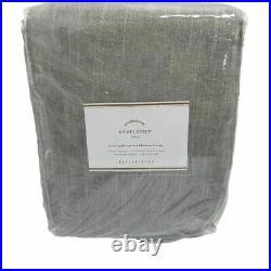 Pottery Barn Emery Linen/Cotton Curtain Gray 100x96 Blackout Drape