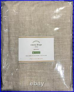 Pottery Barn Emery Linen/Cotton Grommet Curtain, 50w X 84l, Oatmeal Color