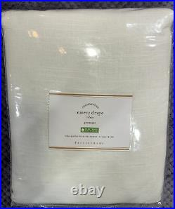 Pottery Barn Emery Linen/Cotton Grommet Curtain Curtain, 50w x 108l, White