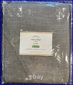 Pottery Barn Emery Linen/Cotton Grommet Curtain Curtain, 50w x 96l, Gray
