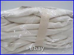 Pottery Barn Emery Linen Cotton Lined Drape Panel Curtain 100x 84 White #8955