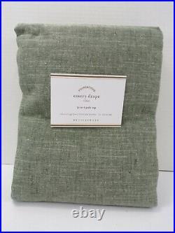 Pottery Barn Emery Linen Cotton Lined Drape Panel Curtain 50x 108 Sage Gr #8660