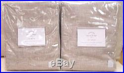 Pottery Barn Emery Linen Cotton Lining Drapes Set Of 2 50 X 96l -oatmeal, New