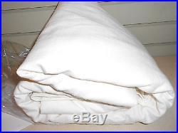 Pottery Barn Emery Linen/Cotton Pole Pocket Drape 100 X 108 Ivory Double Lined