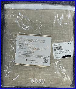 Pottery Barn Emery Linen/Cotton Rod Pocket Blackout Curtain, 100 x 108, Oatmeal