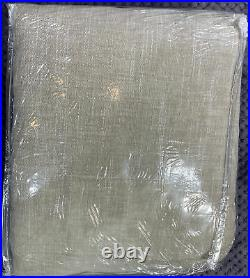 Pottery Barn Emery Linen/Cotton Rod Pocket Blackout Curtain, 100 x 96, Oatmeal