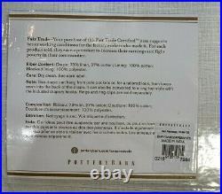 Pottery Barn Emery Linen/Cotton Rod Pocket Blackout Curtain, 100 x 96, White