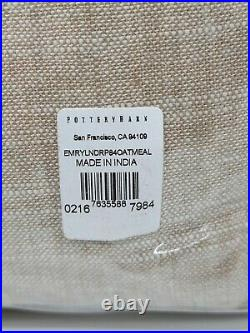 Pottery Barn Emery Linen/Cotton Rod Pocket Blackout Curtain, 50 x 84, Oatmeal