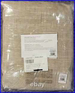 Pottery Barn Emery Linen/Cotton Rod Pocket Blackout Curtain 50 x 96, Oatmeal