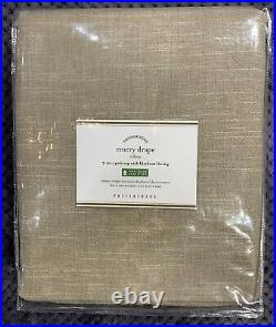 Pottery Barn Emery Linen/Cotton Rod Pocket Blackout Curtain, 50w x 84l, Walnut