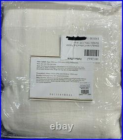 Pottery Barn Emery Linen/Cotton Rod Pocket Curtain, 100x108, Ivory, FREE SHIP