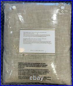 Pottery Barn Emery Linen/Cotton Rod Pocket Curtain, 50 x 84, Oatmeal Color