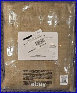 Pottery Barn Emery Linen/Cotton Rod Pocket Curtain, 50 x 84, Walnut Color