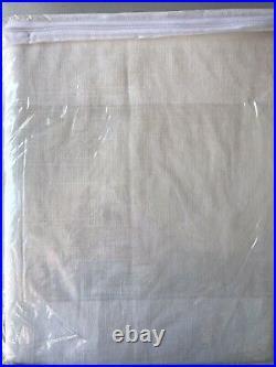 Pottery Barn Emery Linen/Cotton Rod Pocket Curtain Drapes 50 x 84 White