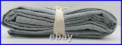Pottery Barn Emery Linen Cotton Rod Pocket Drape Curtain 50x108 Blue Dawn #116R