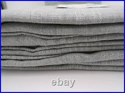 Pottery Barn Emery Linen Drape Curtain Blackout Lined Blue Dawn 50x 84 4478B