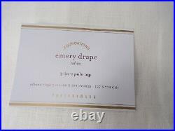 Pottery Barn Emery Linen Drape Panel Curtain 50 x 108 Cotton Lined Ivory #9801N
