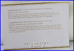 Pottery Barn Emery Linen Drape Panel Curtain 50x 96 Cotton Lined Ivory S/2 #5041