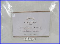 Pottery Barn Emery Linen Drape Panel Curtain Blackout Lined 50x 108 Ivory 9802Z