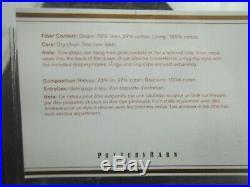Pottery Barn Emery Linen Drapes Curtain Panel 50x 96 Blackout White S/ 2 #1799