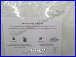 Pottery Barn Emery Linen Drapes Panels Curtain Blackout 50x 96 Ivory #8585D