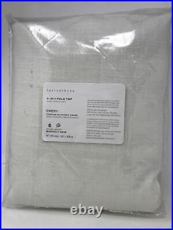 Pottery Barn Emery Linen Drapes Panels Curtain Blackout 50x 96 White KA