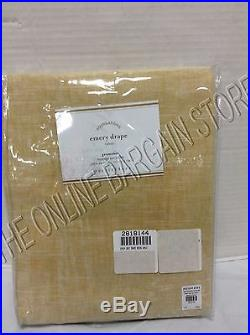 Pottery Barn Emery Linen Drapes Panels Curtains Cotton Liner GROMMET Wheat 50x84