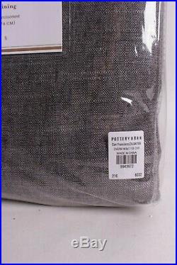Pottery Barn Emery Linen Grommet Blackout Curtain Drape panel 50x108 charcoal