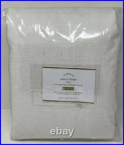 Pottery Barn Emery Linen Poletop BLACKOUT Doublewide Drape Curtain (1) 100 x 84