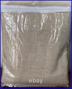 Pottery Barn Emery Linen Poletop BLACKOUT Drape Curtain (1) 50 x 84 Oatmeal