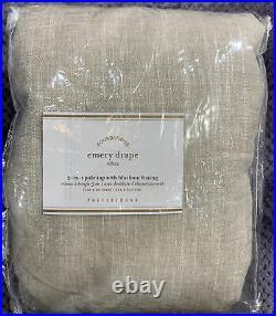 Pottery Barn Emery Linen Poletop Blackout Curtain, 100 x 96, Oatmeal