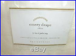 Pottery Barn Emery Linen Poletop Double Drape Cotton Blackout 100 x 108 Wh #30