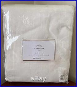Pottery Barn Emery Linen Poletop Drape Curtain 50 x 96 Ivory