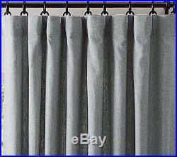 Pottery Barn Emery Pole Pocket Blackout Drape, 100 X 108 Blue Dawn, $309 Msrp