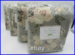 Pottery Barn Emmaline Blackout Drape Panel Curtain Cool Multi 50x 96S/4 #8508C