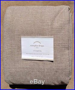 Pottery Barn Everyday Drape In Flax (beige) Color 50 X 108 4 Available