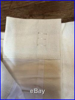 Pottery Barn Foundations Peyton Pole Top Drape 100 x 96 Inches In Ivory Color