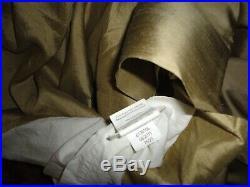 Pottery Barn Goldish Sandstone Silk (3) Drapery Curtains Panels 50x108 & 50x96