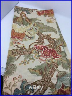 Pottery Barn Graciela Floral Curtain Panel 50 x 96