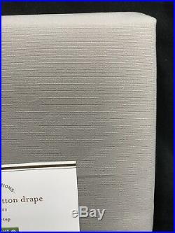 Pottery Barn Gray Drizzle Cameron Cotton 108 Curtains Panels Drapes Set/2