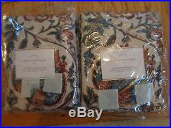 Pottery Barn HAYLIE PRINT DRAPES-SET OF 2-50 X 84-BLACKOUT LINING-NEW IN PACKAGE