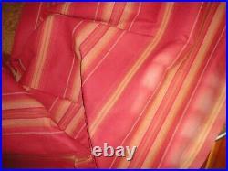 Pottery Barn Harrison Red Gold Rust Stripe (2) Drapery Curtain Panels 54 X 108