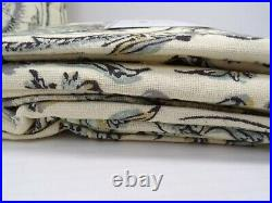Pottery Barn Haylie Curtains Drapes Panels Cotton Lined 50 x 84 Gray S/ 2 #8655