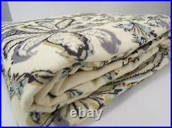 Pottery Barn Haylie Curtains Drapes Panels Cotton Lined 50x 84 Gray S/ 4 #8654