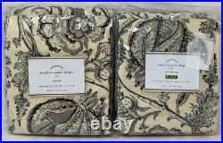 Pottery Barn Haylie Print Drape Curtain (Set of 2) 50 x 84 Gray Multi