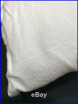 Pottery Barn Ivory Emery Linen/Cotton 108 Double-Wide Drape Panel Curtain