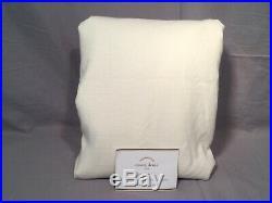Pottery Barn Ivory Emery Linen/Cotton 96 Double Wide Drape Curtain Panel