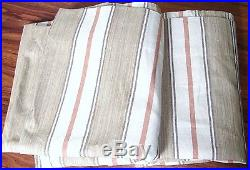 Pottery Barn Joshua Stripe Drapes 50 x 108 Neutral