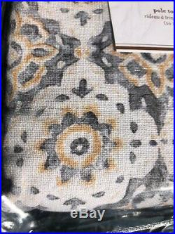 Pottery Barn June Print Blackout Linen Drapes Curtains Panel 50x84 neutral multi